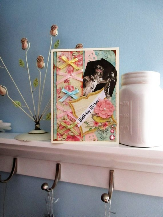 Handmade card Vintage-Style Woman Birthday by MySweetGreetings