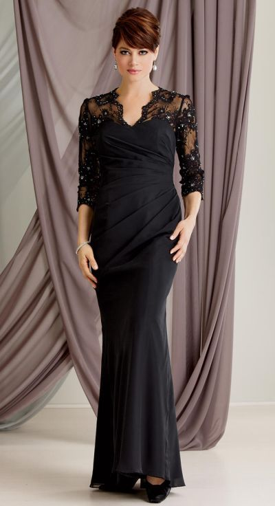 Caterina 6019 By Jordan Chiffon And Lace Mother Of The Bride Dress Image Eggplant Available
