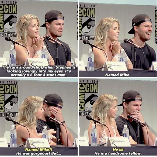 Stephen & Emily #SDCC | showss ♡ | Arrow cast, Team arrow