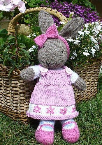 Bunty Bunny Rabbit With Removeable Dress Pattern By Debi Birkin