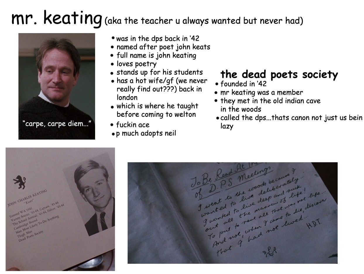 according to mr keating why read poetry