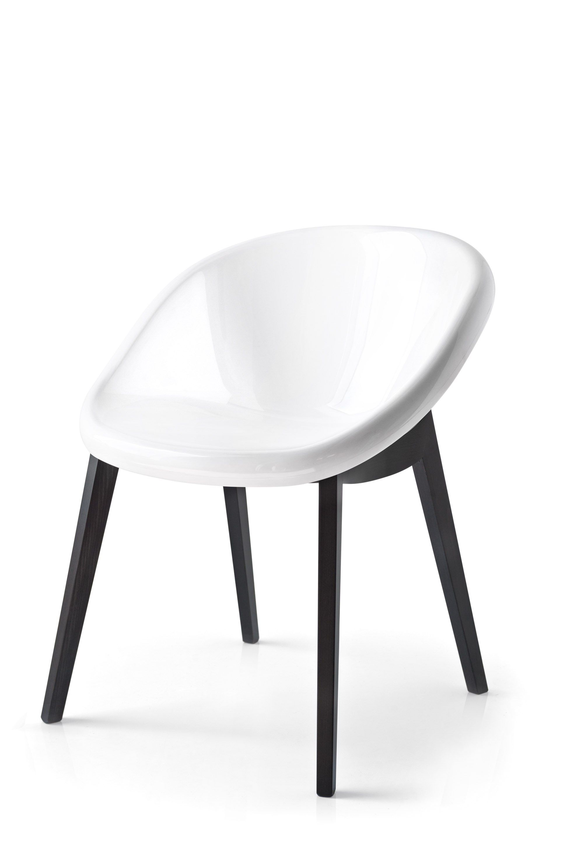 Contemporary style wooden chair BLOOM | Polycarbonate chair ...