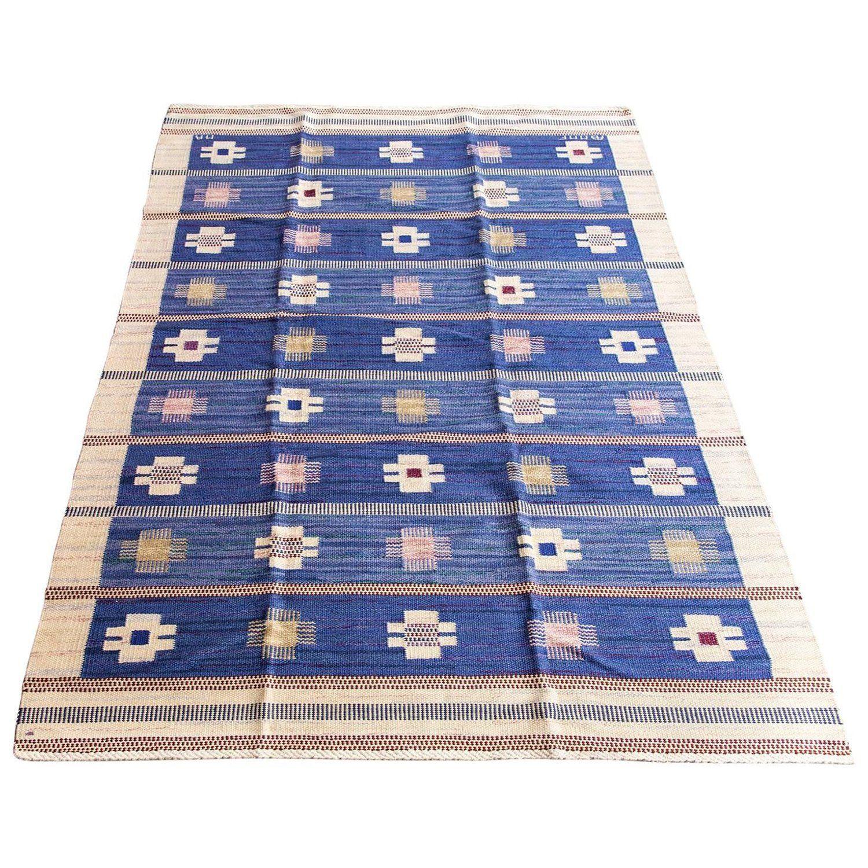 Blue Blaklint Marta Maas Fjetterstrom Or Mmf Swedish Flatweave Rug Scandinavian Rug Rugs On Carpet Rugs