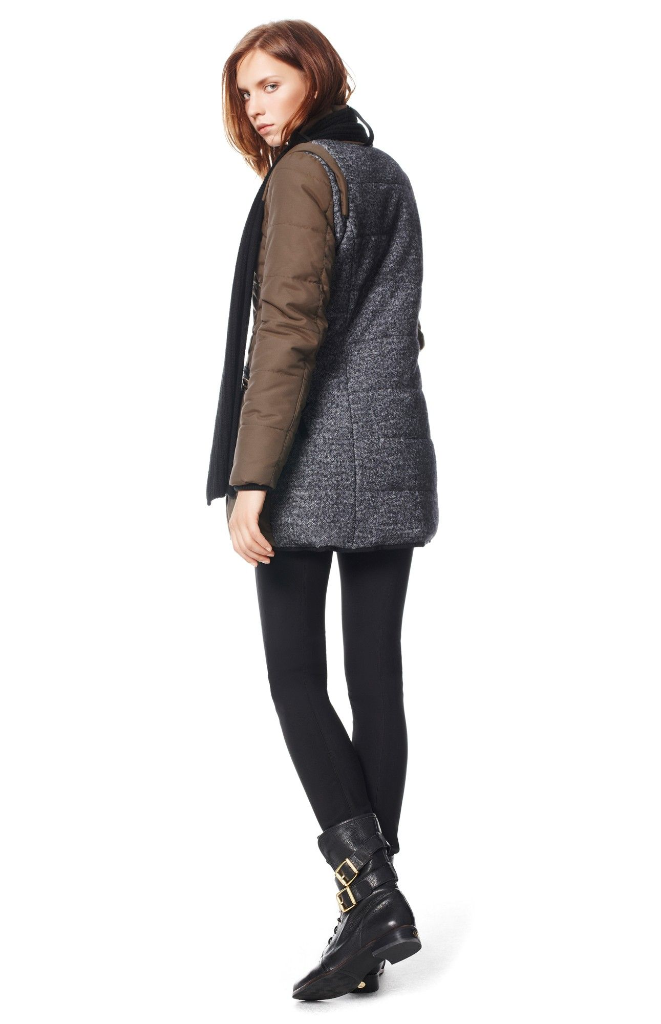 Chaquet n efecto bufanda prendas de abrigo adolfo for Abrigos adolfo dominguez outlet
