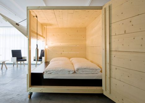 Cadiz this looks like your bed you designed. Harry Thaler adds mobile furniture and boxy beds to artists\u0027 apartment. : canopy-bed-studio-apartment - designwebi.com