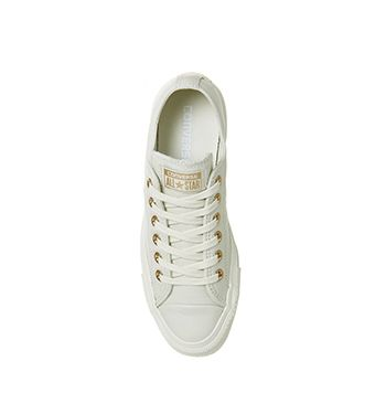 009c3750b304b9 Converse All Star Low Leather Egret Rose Gold Exclusive - Unisex Sports