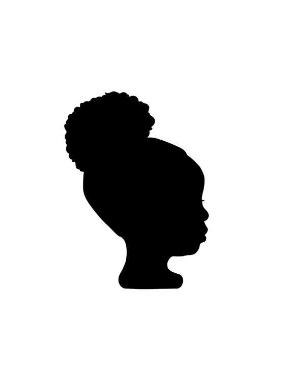Items Similar To Digital Custom Silhouette Portrait On Etsy Girl Silhouette Black Woman Silhouette Silhouette Art