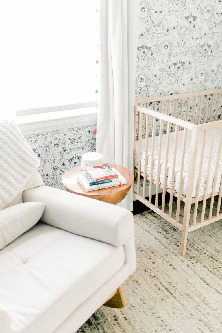 Neutral Nursery with a Pop of Color Nursery neutral