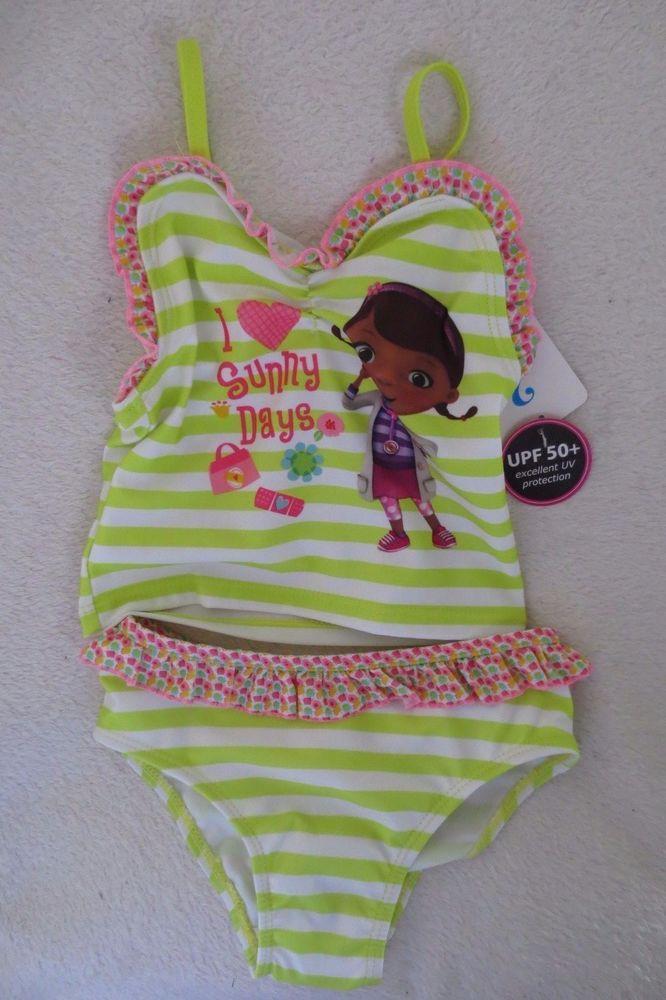 9d58b4d0f6241 #disney doc mcstuffins toddler girls' 2-piece swimsuit tankini 3t from  $14.99