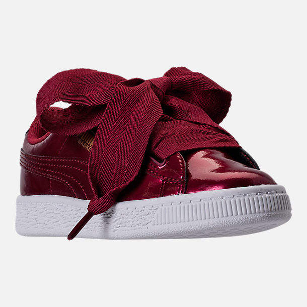 970448805de0 girlss preschool puma basket heart glam casual shoes
