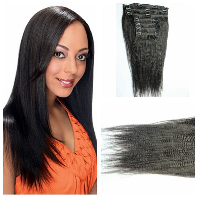 Top Grade 7a Clip In Brazilian Human Hair Extensions Wholesale Price