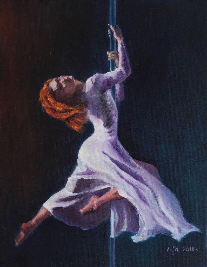 Dancing Woman Oil Painting Art Figurative Painting Original Oil Figure Painting Dance Home Decor Gift Oil On Canvas Size 19 X16 Malarstwo Olejne Artysci Baleriny