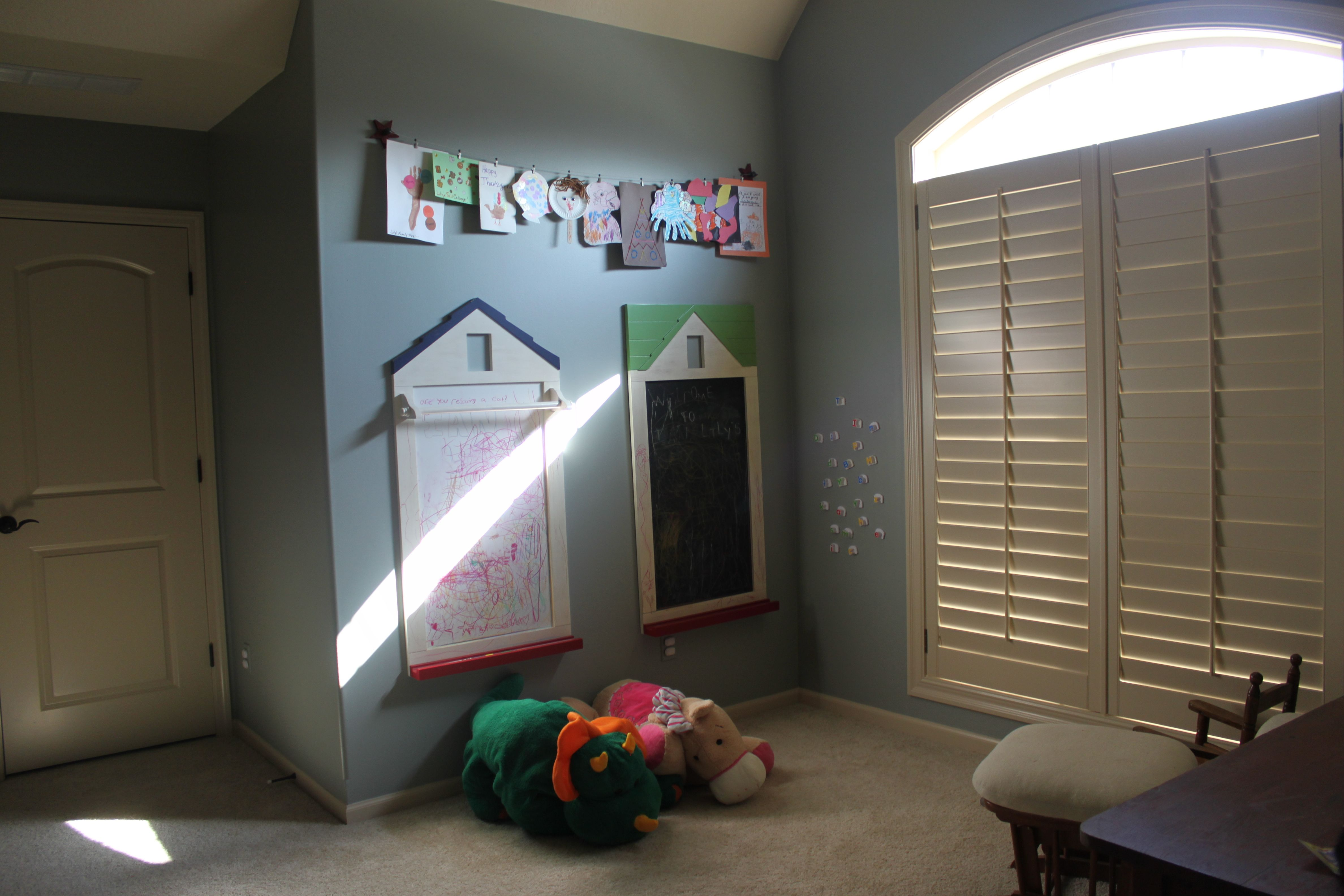 Our Finished Learning Loft With Pbk Dry Erase And Chalk