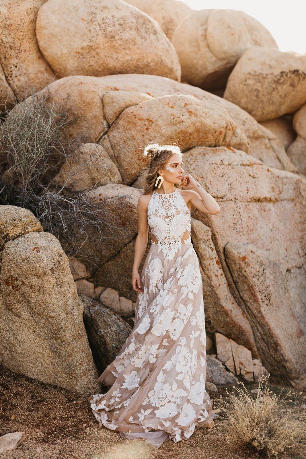 Wild Ones Boho Desert Bridal Inspo Indie Wedding Dress Classic