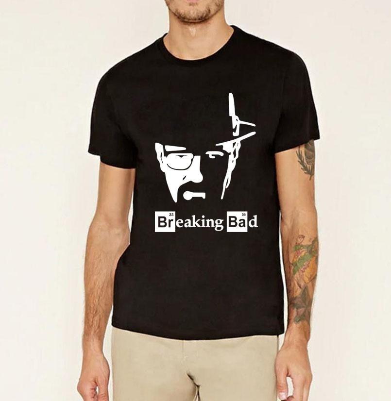Homme Coton Tee Heisenberg Breaking Bad Inspiré T Shirt