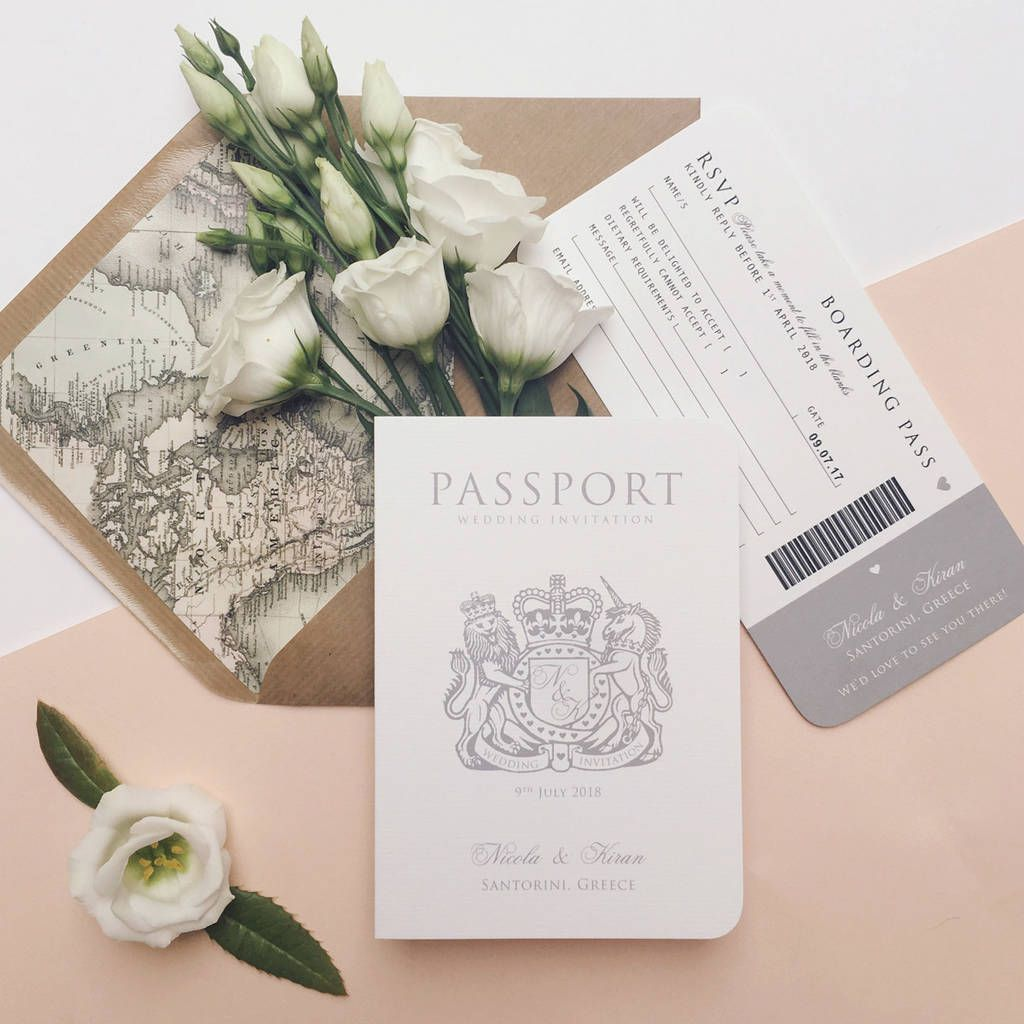 Around The World\' Passport Wedding Invitation | Weddings and Wedding