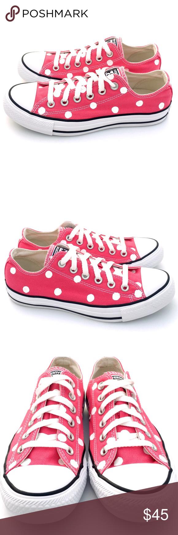 84e102b5ea9399 Converse 7 RASPBERRY Pink Polka Dot CTAS Hand painted unisex Converse Chuck  Taylor All-Star