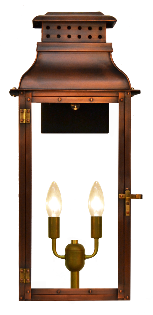 Palmetto Street Copper Lighting The Coppersmith Gas And Electric Lighting Electric Lanterns Copper Lighting Copper Lantern