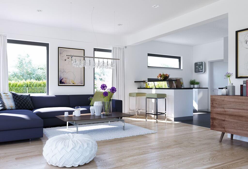 Wohnzimmer Ideen mit offener Küche - Inneneinrichtung Haus Edition 3 ...