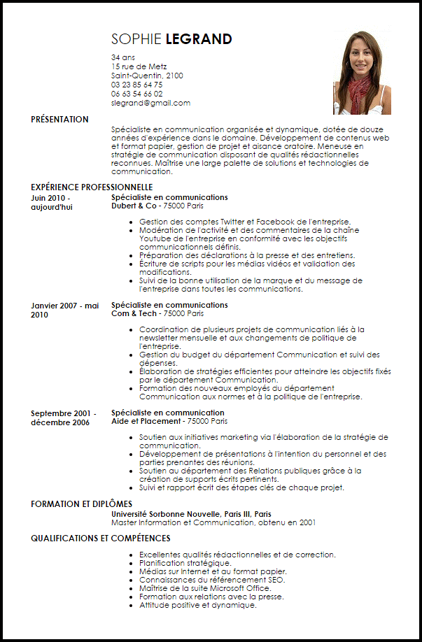 cv attachee de presse