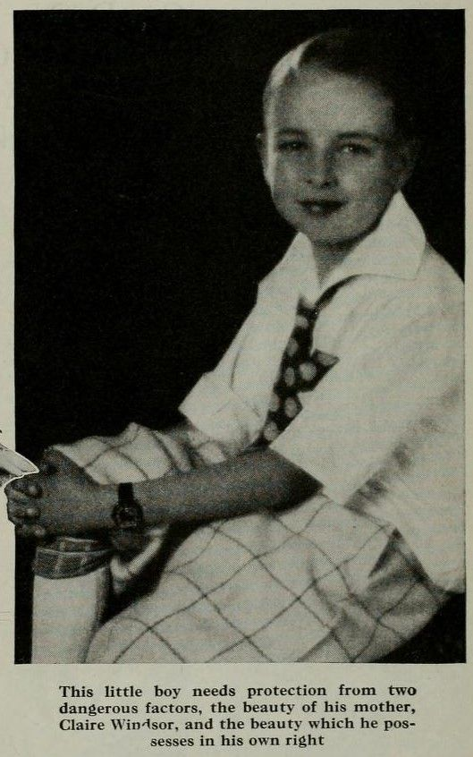 Claire Windsor''s son - Photoplay January 1930