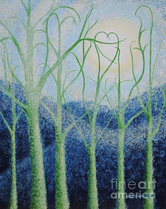 Two Hearts Painting by Holly Carmichael - Two Hearts Fine Art Prints and Posters for Sale