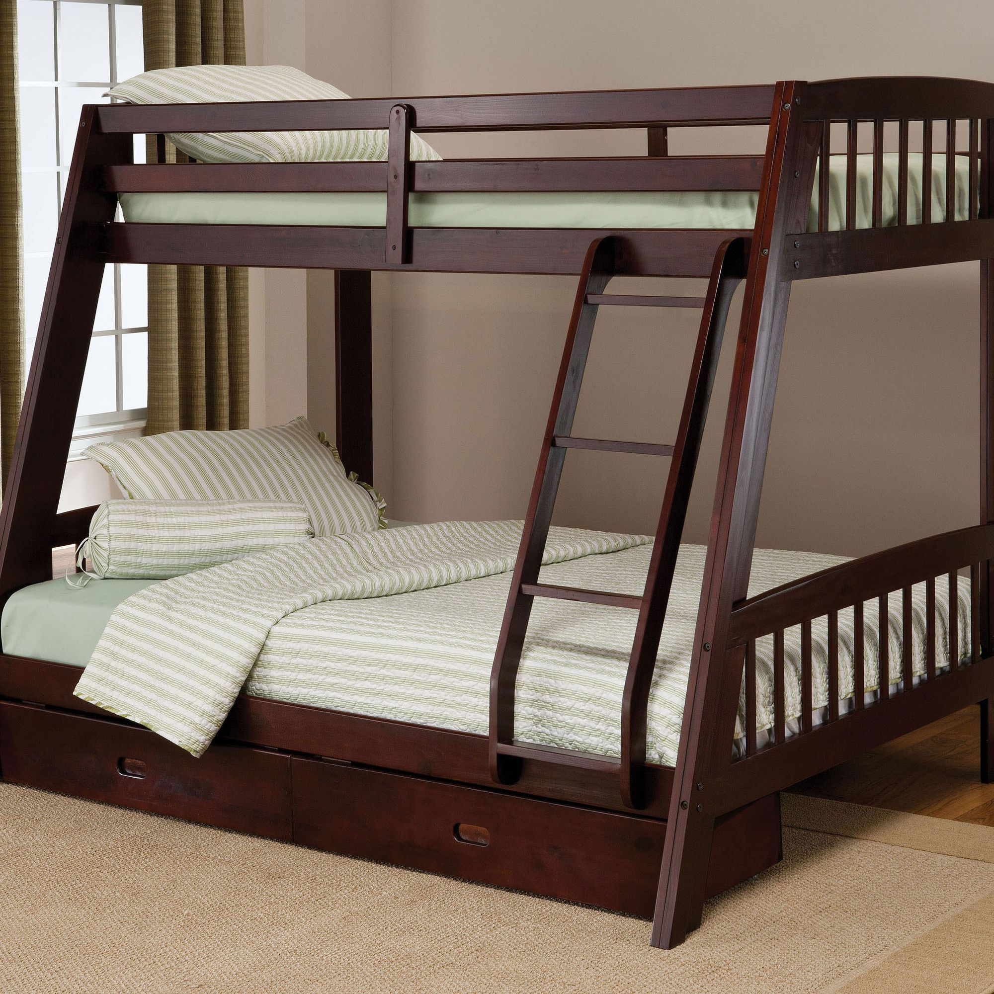 Hillsdale Rockdale Twin over Full Bunk Bed with Built-In Ladder and ...