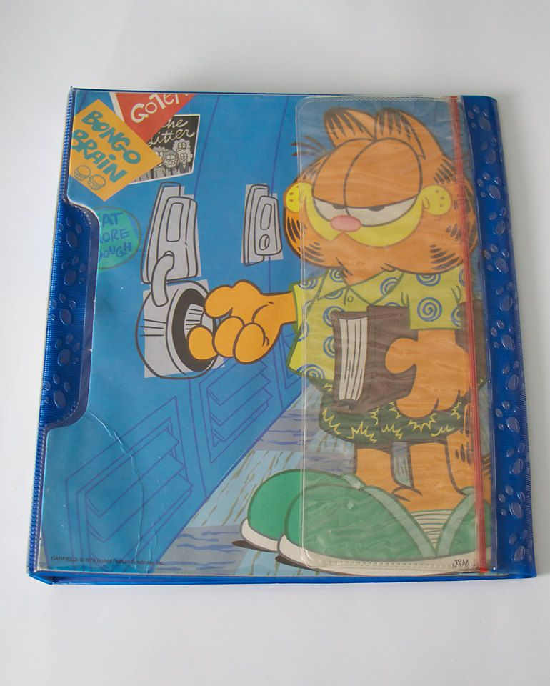 Garfield Vintage Mead The Pencil Pouch By Sinkorswimtreasures