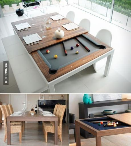 Pool Table Dining Room Table: Pool Table Dining Table, Modern Dining