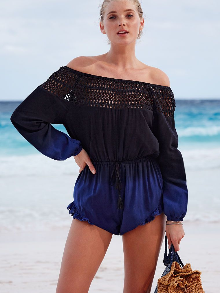 054fa90de0 Elsa Hosk - Long-sleeve Cover-up Romper - Victoria's Secret | Elsa ...