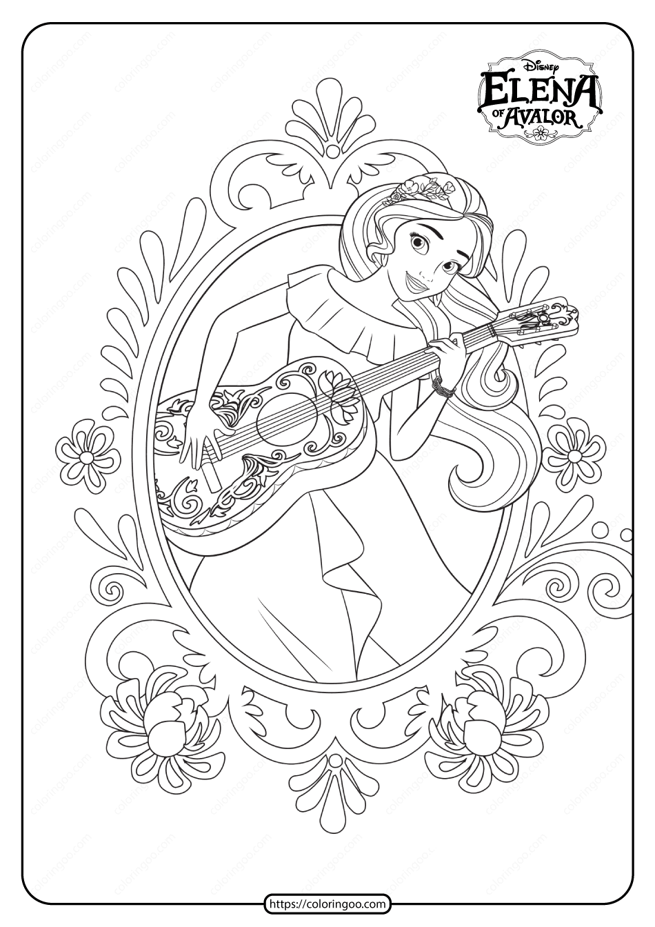 Princess Elena Of Avalor Pdf Coloring Book In 2020 Princess Elena Princess Elena Of Avalor Coloring Books