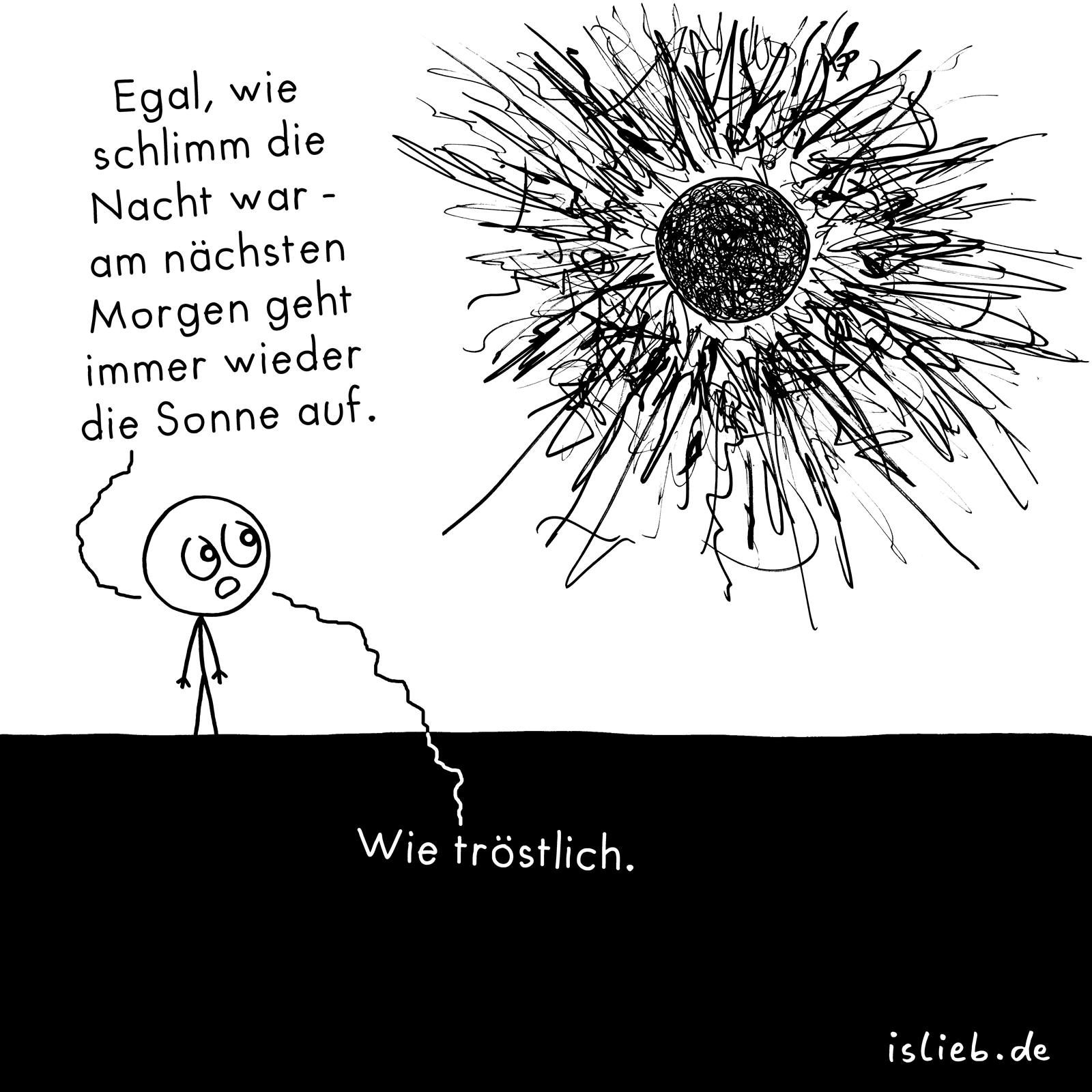 Sonne Bilder Comic Sonne Nacht Trost Comic Islieb Is Lieb Comics Und Sad