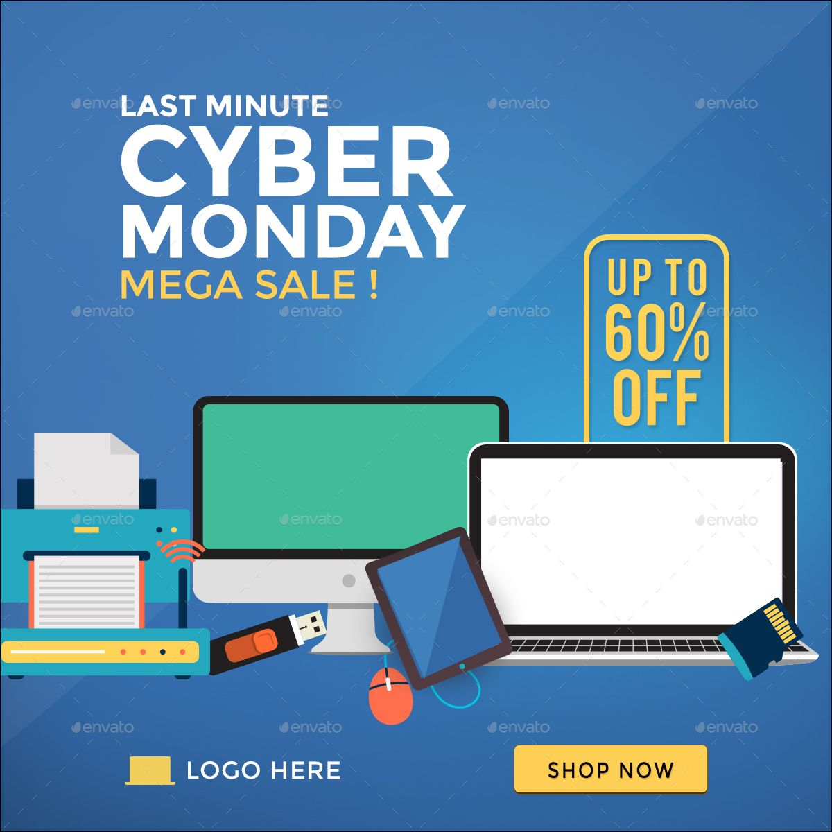 Cyber Monday Banners In 2020 Cyber Monday Banner Banner Sizes Banner Template
