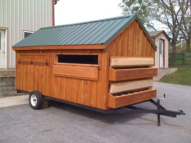 mobile chicken coop plans on wheels chicken coop large