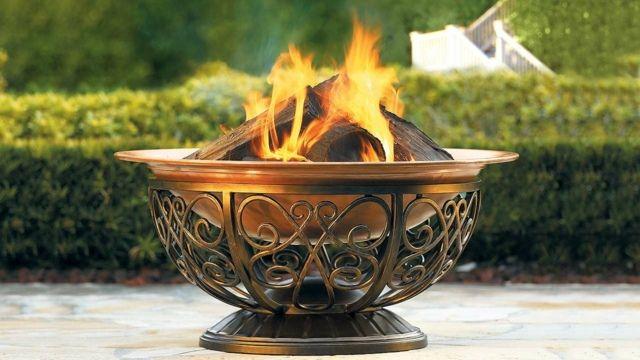 Feuerschale Wärme kalte Abende im Garten modern | Garten | Pinterest