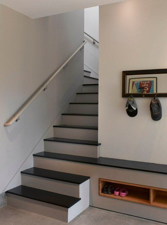 Small Space Solutions Recessed Storage Staircase Design Small