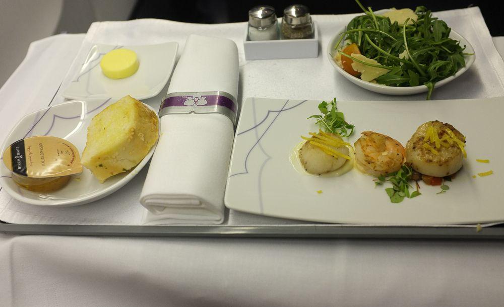 Food business class at thai airways air lines for Air thai cuisine