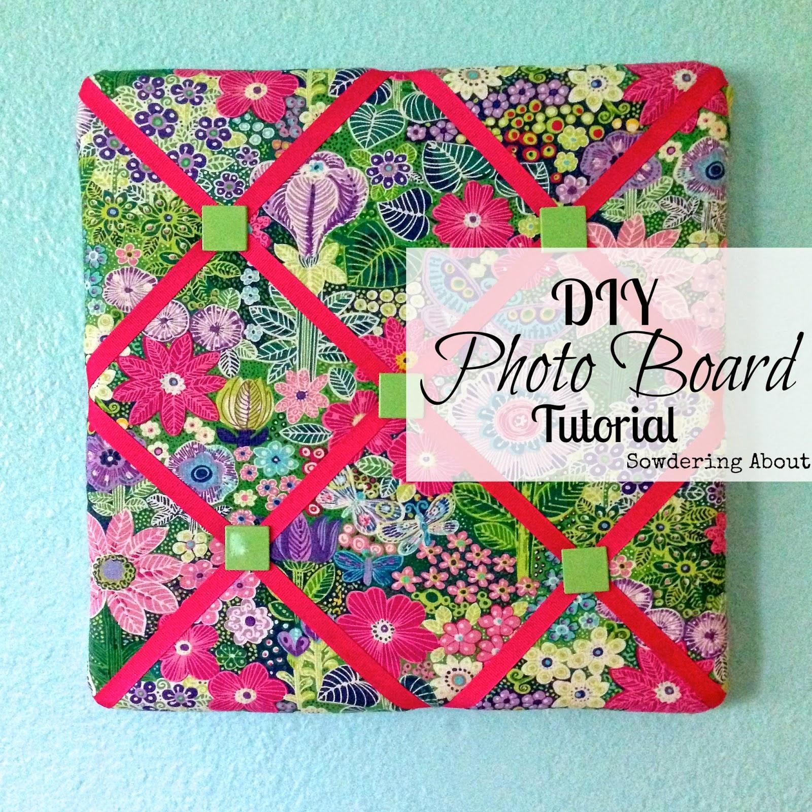 Diy photo board tutorial costura pinterest tabl n de for Reciclaje manualidades decoracion