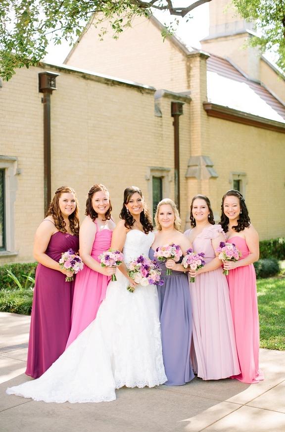 2e5fc962aa41 Pink and purple bridesmaids dresses   UK BLOG WEDBITS.COM ...