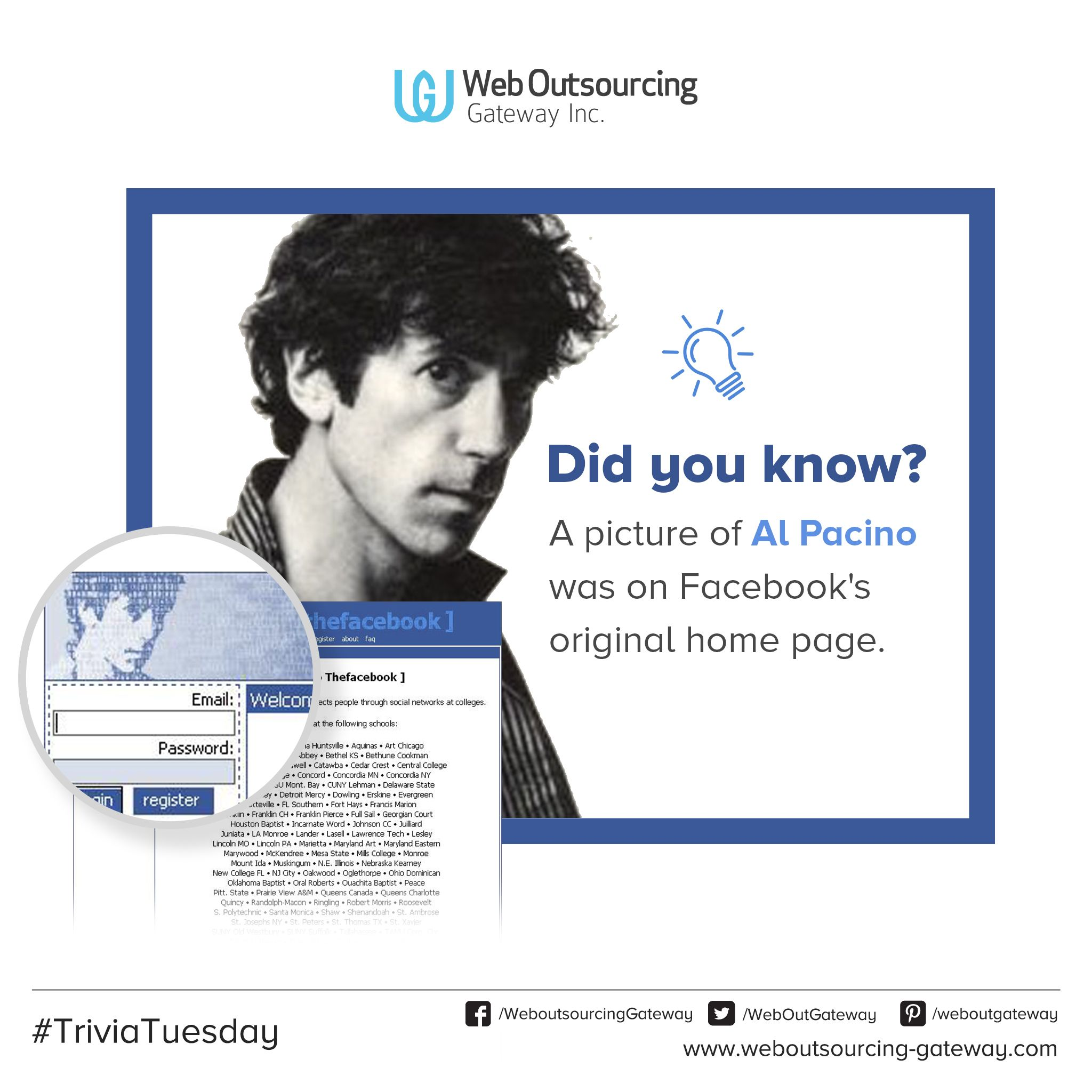 Yep Al Pacino Was Also The First Face Of Facebook It S