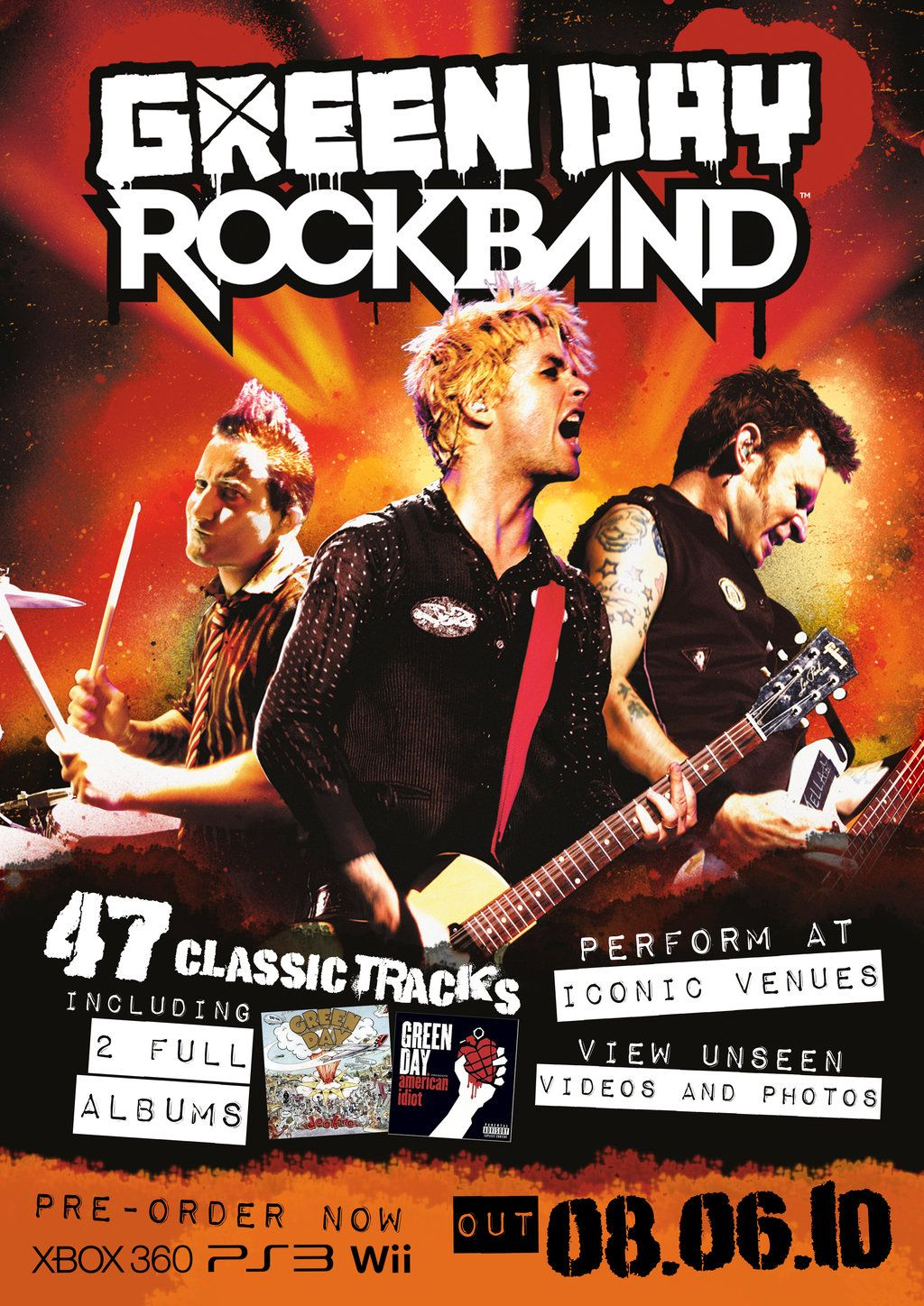 Green Day Rock Band Poster By Espiox Deviantart Com On