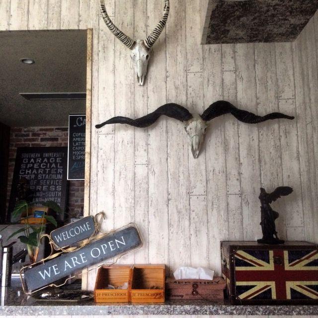 Ts44さんの 壁 天井 ダイニング カフェ風 ユニオンジャック Dulton