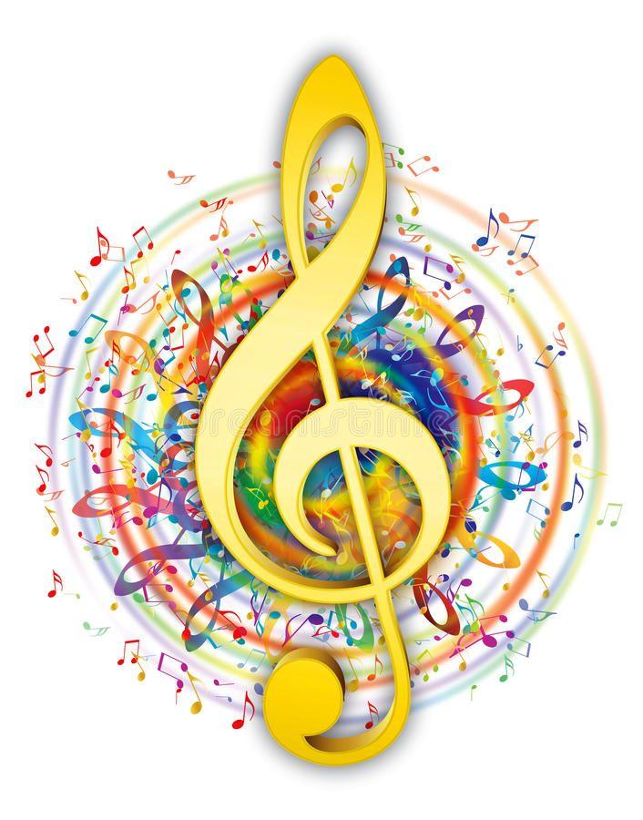 Artistic Music Key Illustration Stock Vector - Illustration of decoration, drawing: 23308702