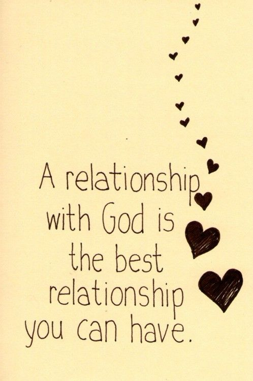Spiritual relationship with god