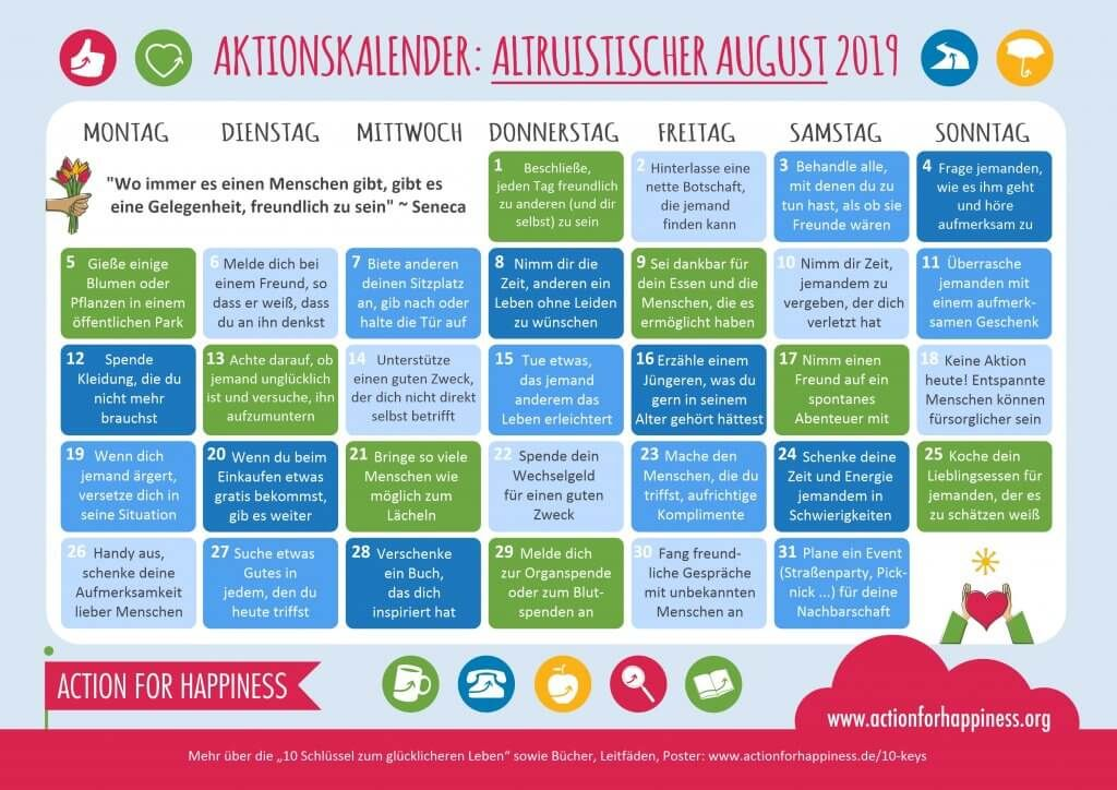 Learn German during an Altruistic August Action for