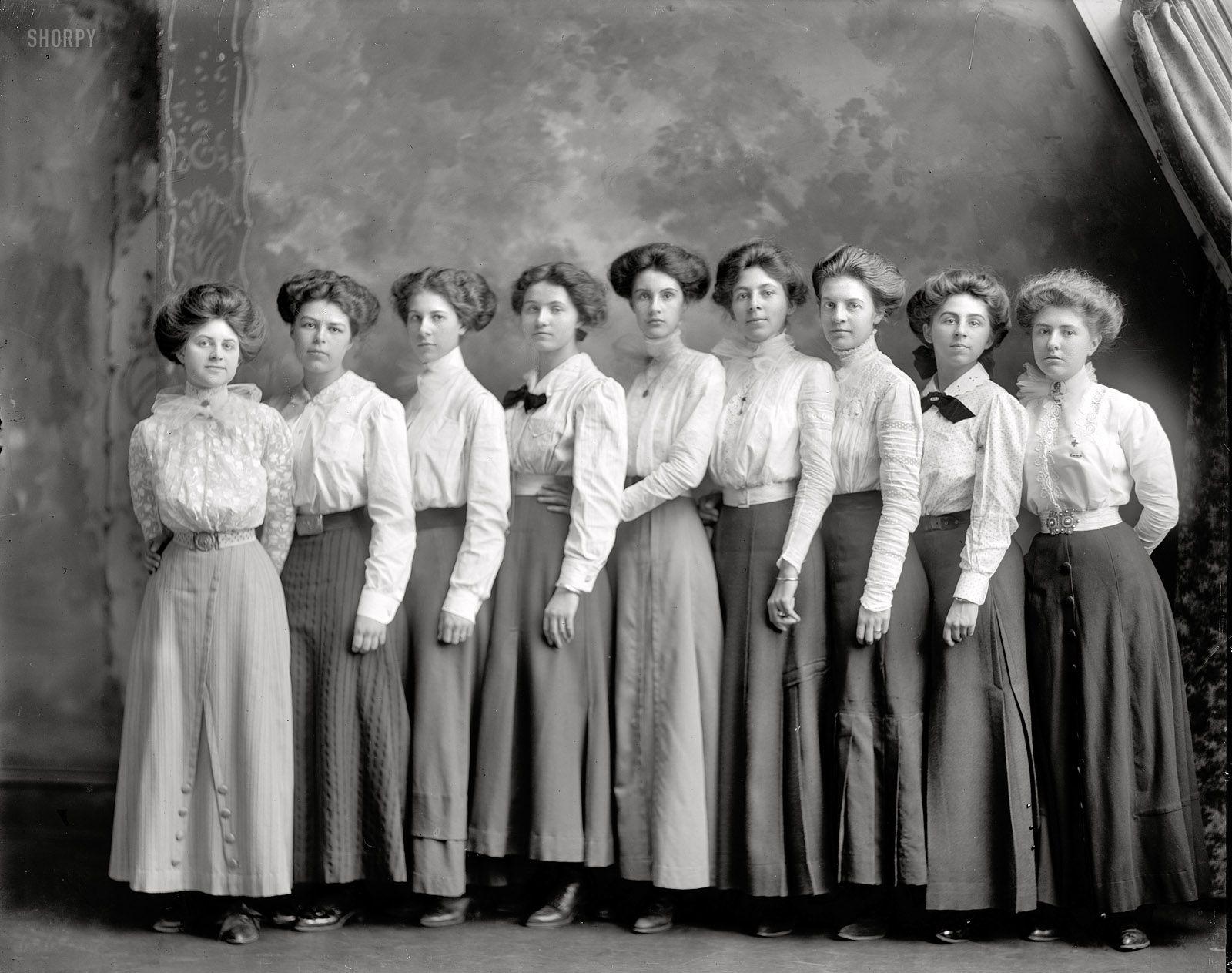 "Washington, D.C., circa 1910. ""Central High School."" Nine ..."