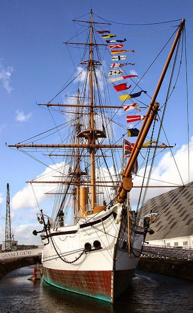 HMS Gannet was a Royal Navy Doterel-class screw sloop launched on 31 August 1878. She became a training ship in the Thames in 1903, and was then lent as a training ship for boys in the Hamble from 1913. She was preserved in 1987 and is now part of the UK's National Historic Fleet. She is on display at the Chatham Historic Dockyard as a museum ship.