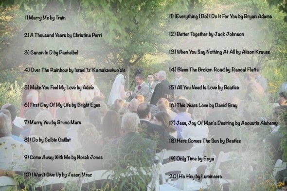 Ceremony Songs For Wedding Party: Top 20 Wedding Processional Songs Of