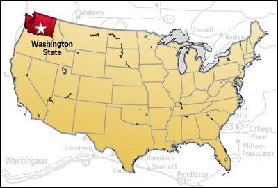 Wa State On Us Map Too Bad Idn All Wa State Evergreen State - Washington-us-map