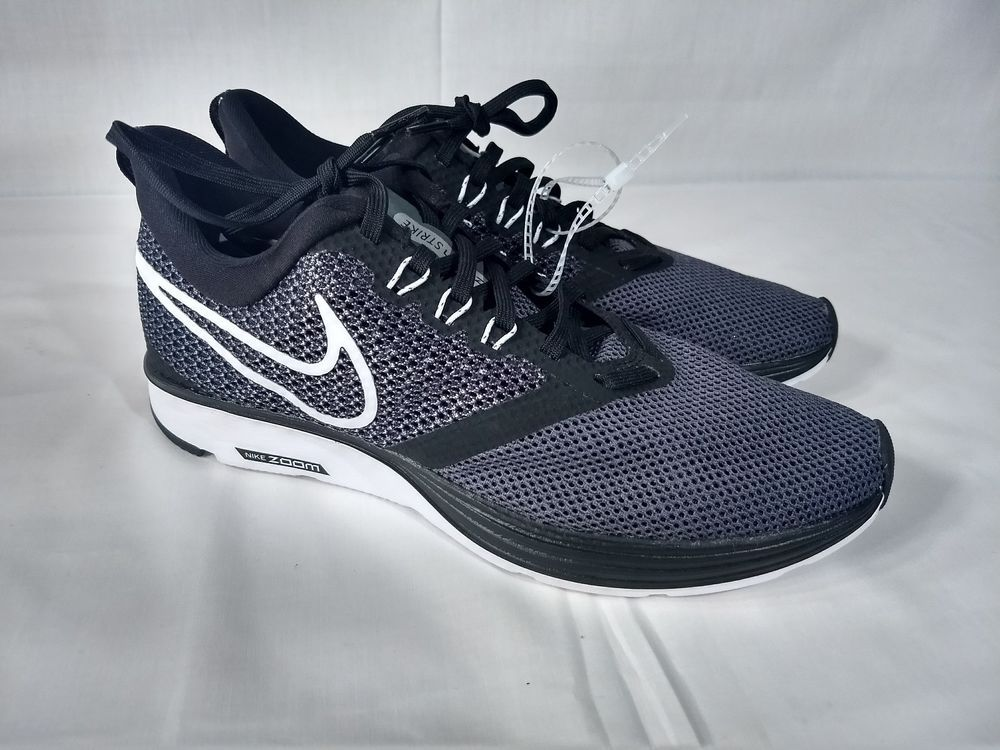NIKE WMNS Zoom Strike Women's SIZE 8.5 BLACKWHITE DARK GREY